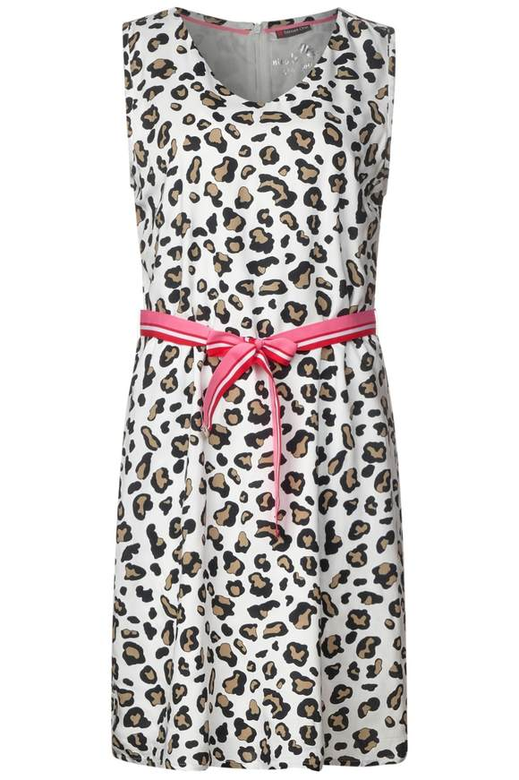 Robe léopards avec ceinture - light sand