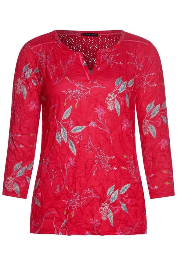 Image of Crash-shirt met bloemenprint - vivid red