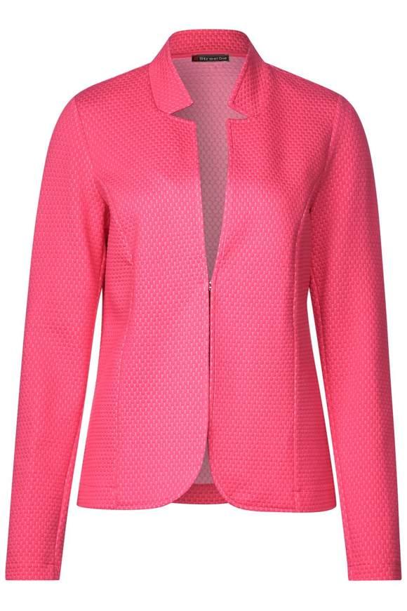Femininer Struktur-Blazer - blossom pink   Bekleidung > Blazer   Blossom pink   STREET ONE