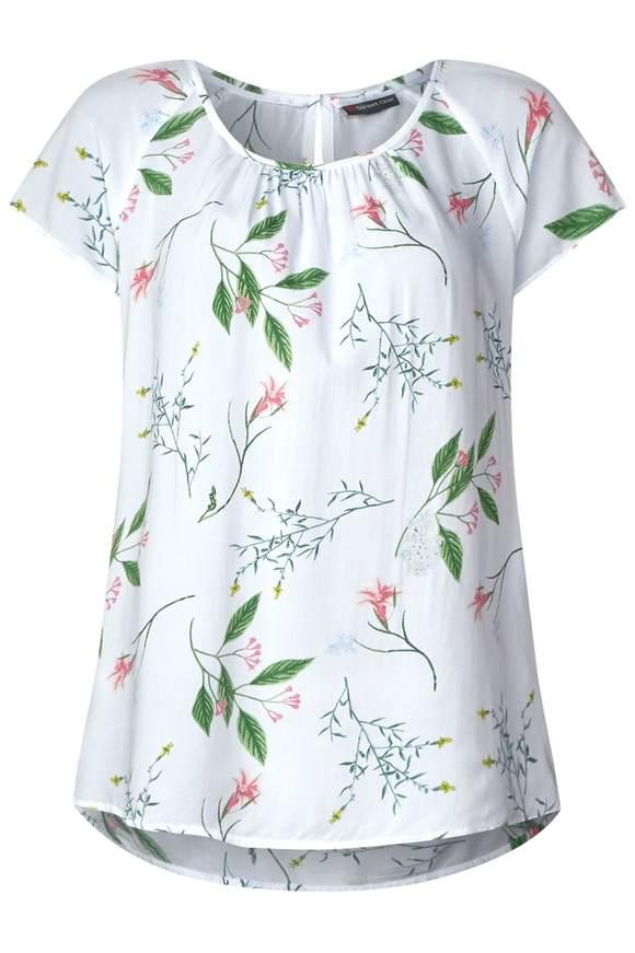 Allover Print Shirt Felia - White   Bekleidung > Shirts > Print-Shirts   White   STREET ONE