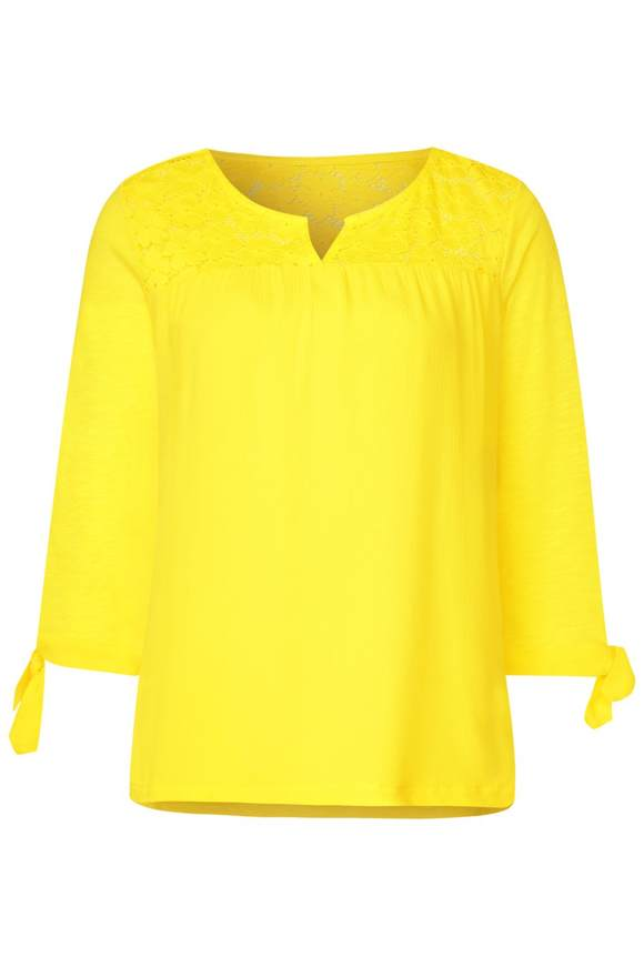 Tunika mit Spitzendetails - sunshine yellow | Bekleidung > Tuniken > Sonstige Tuniken | Sunshine yellow | STREET ONE