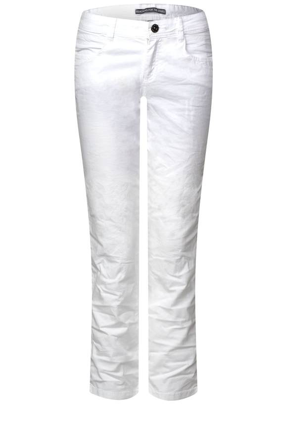 Casual Fit Chinohose Crissi - White | Bekleidung > Hosen | White | STREET ONE