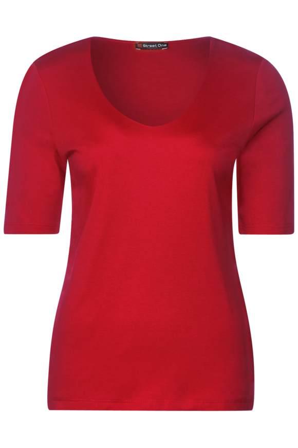 Basic Shirt Palmira - vivid red | Bekleidung > Shirts > Sonstige Shirts | Vivid red | STREET ONE