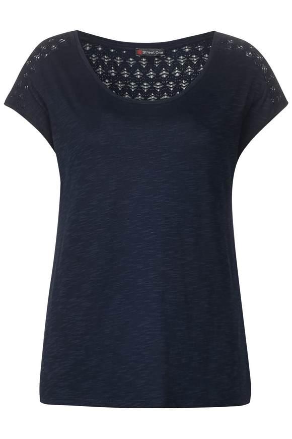 Lockeres Spitzen Shirt Tiara - deep blue   Bekleidung > Shirts > Spitzenshirts   Deep blue   STREET ONE