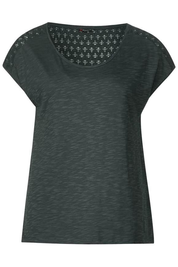 Lockeres Spitzen Shirt Tiara - chilled green   Bekleidung > Shirts > Spitzenshirts   Chilled green   STREET ONE