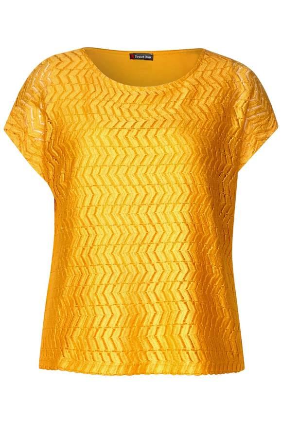 2in1 Spitzenshirt - bright clementine | Bekleidung > Shirts > Spitzenshirts | Bright clementine | STREET ONE