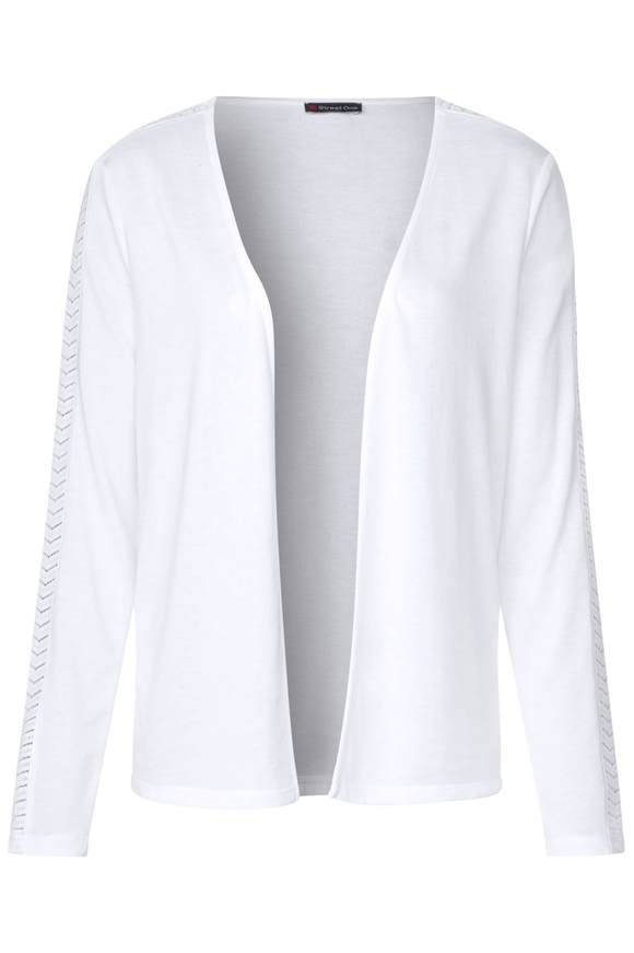 Shirtjacke mit Spitze Nette - White   Bekleidung > Shirts > Shirtjacken   White   Denim   STREET ONE