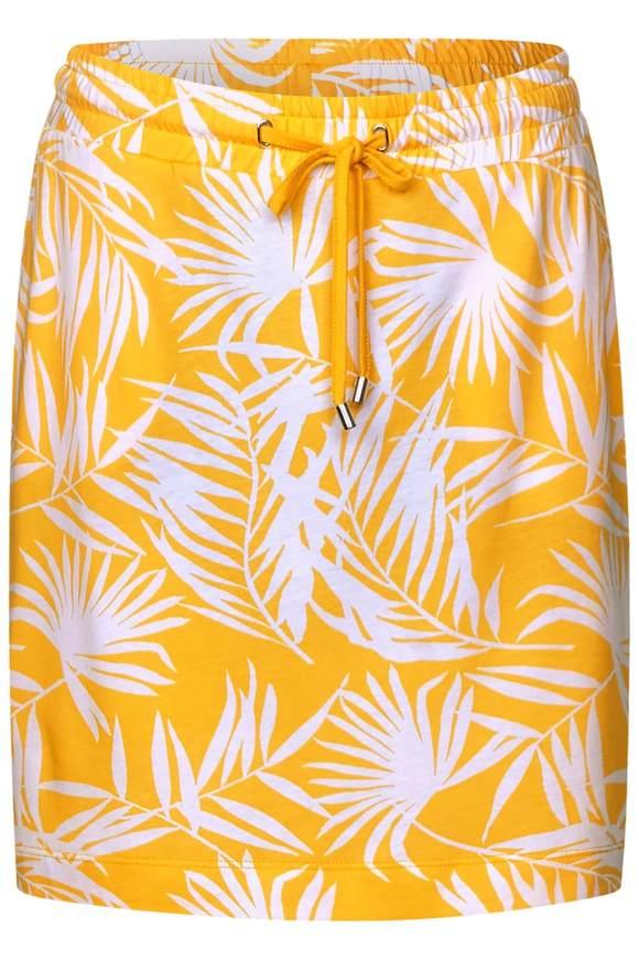 Print Rock im Joggstyle - bright clementine | Bekleidung > Röcke | Bright clementine | STREET ONE