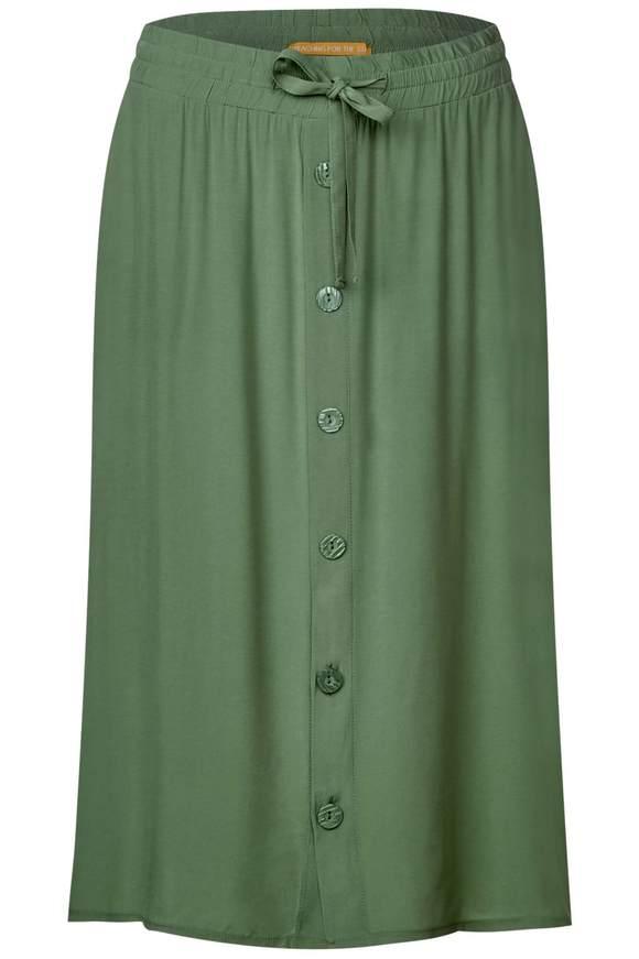 Rock mit Knopfleiste - salvia green   Bekleidung > Röcke > Sonstige Röcke   Salvia green   Cupro - Viskose   STREET ONE