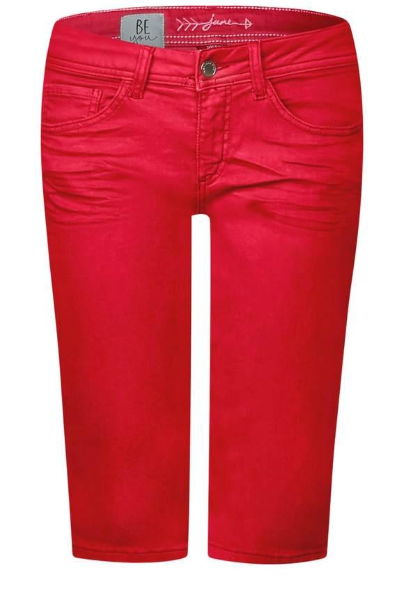 Galonstreifen Bermuda Jane - vived red washed   Bekleidung > Jeans   Vived red washed   Denim   STREET ONE
