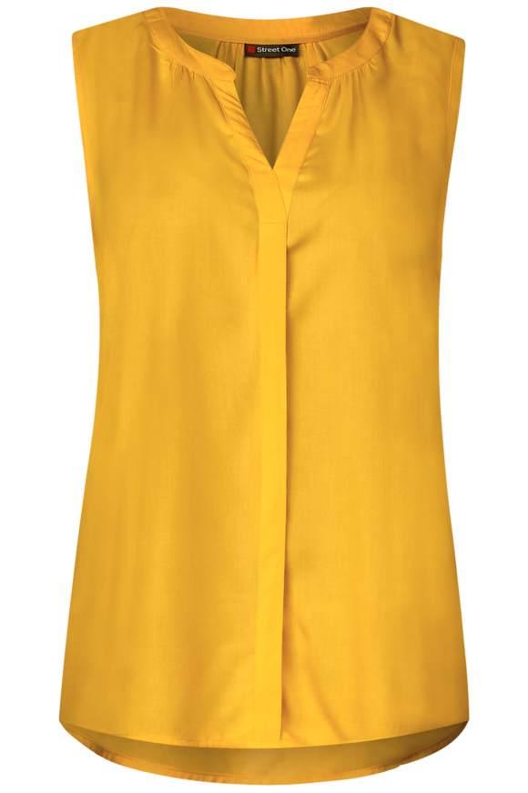 Feminines Blusentop - bright clementine | Bekleidung > Tops > Blusentops | Bright clementine | Viskose | STREET ONE