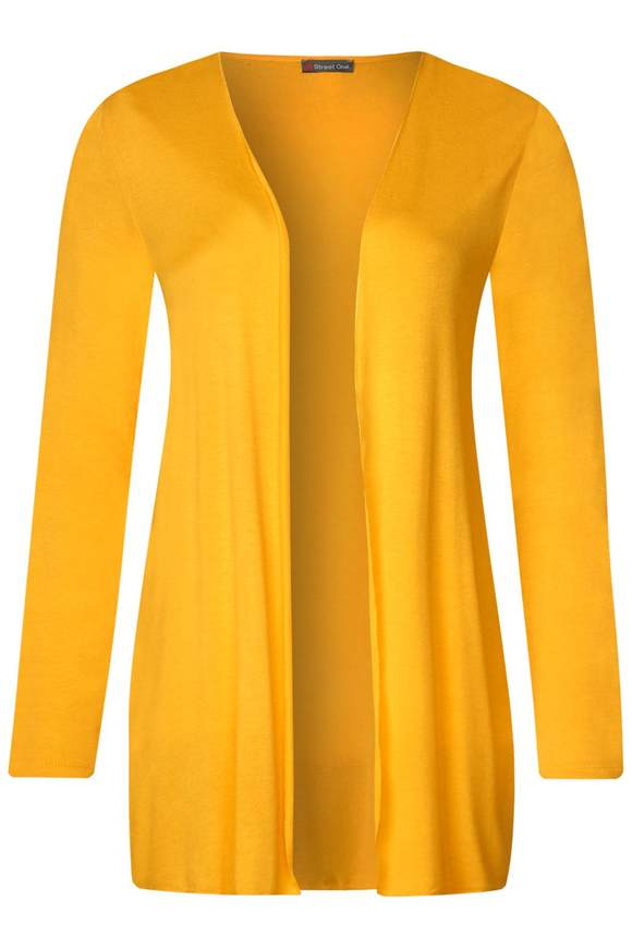 Lang geschnittene Shirtjacke - bright clementine   Bekleidung > Shirts > Shirtjacken   Bright clementine   Viskose - Denim   STREET ONE