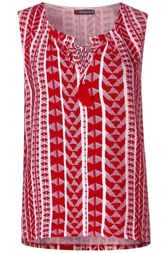 Ärmelloses Print Shirt - vivid red   Bekleidung > Shirts > Print-Shirts   Vivid red   STREET ONE