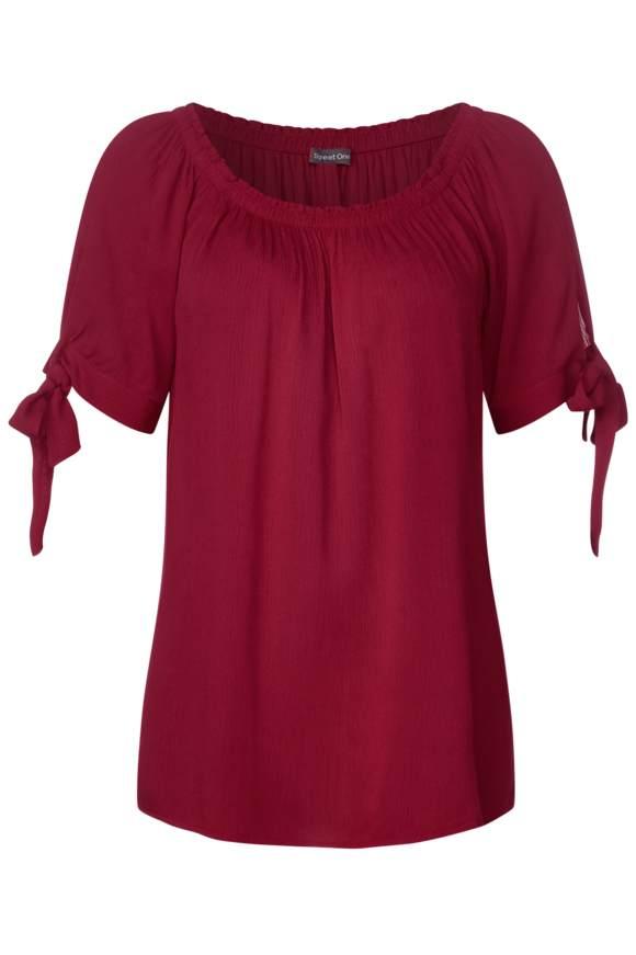 Strukturierte Carmenbluse - wine red   Bekleidung > Blusen > Sonstige Blusen   Wine red   STREET ONE