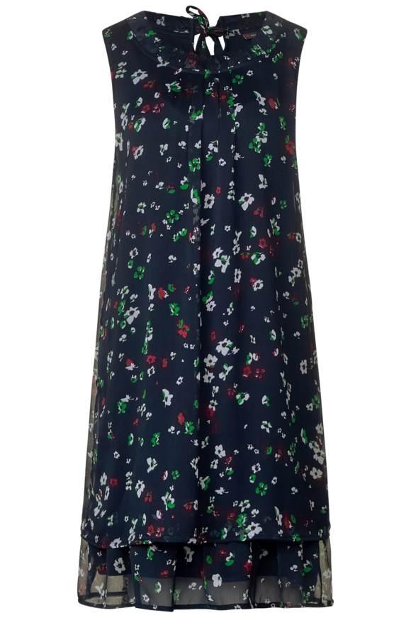 Lagen-Look Kleid mit Print - deep blue | Bekleidung > Kleider > Sonstige Kleider | Deep blue | STREET ONE