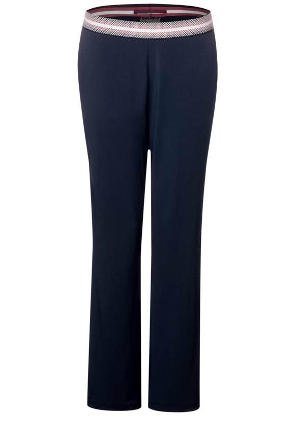 Pantalon avec ceinture décorative - deep blue