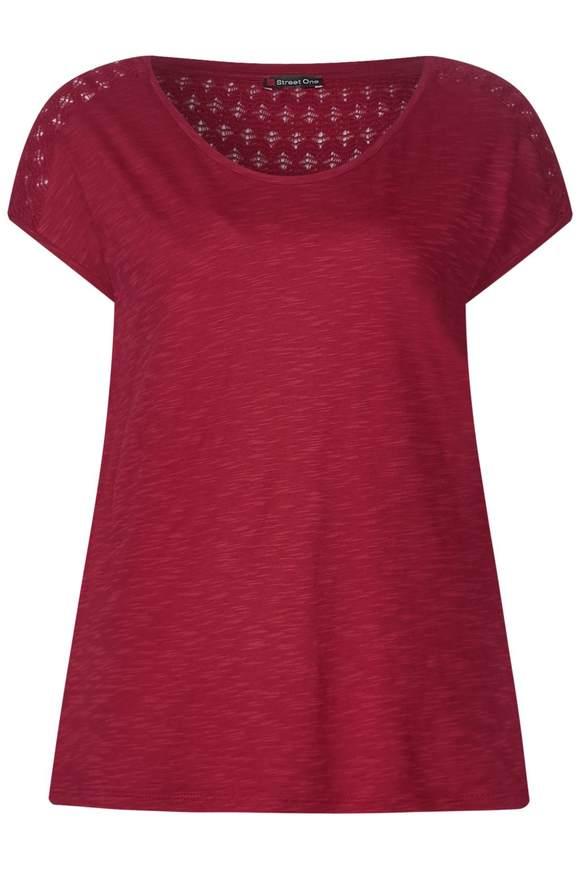 Lockeres Spitzen Shirt Tiara - wine red | Bekleidung > Shirts > Spitzenshirts | Wine red | STREET ONE