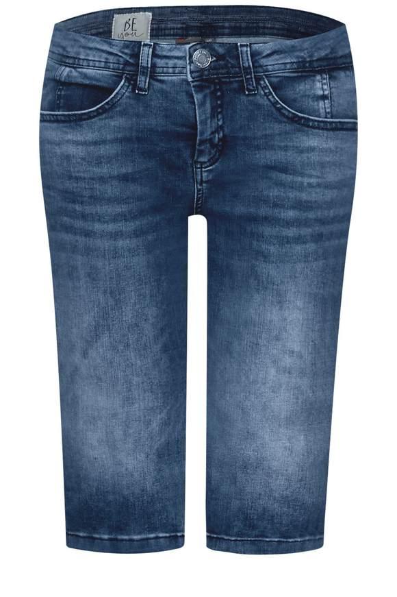 Galonstreifen Bermuda Jane - mid blue heavy washed | Bekleidung > Jeans > Shorts & Bermudas | Mid blue heavy washed | Denim | STREET ONE