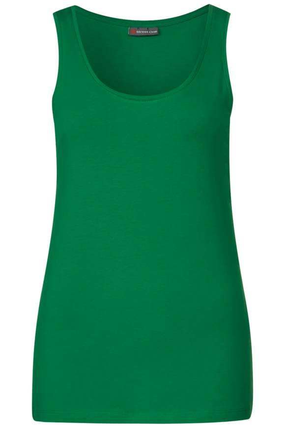 Rundhalstop Bethy - pure green | Bekleidung > Tops > Sonstige Tops | Pure green | STREET ONE