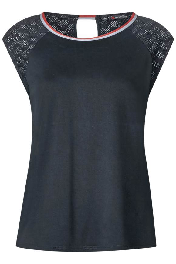 Spitzenshirt Abelina - neo grey   Bekleidung > Shirts > Spitzenshirts   Neo grey   STREET ONE