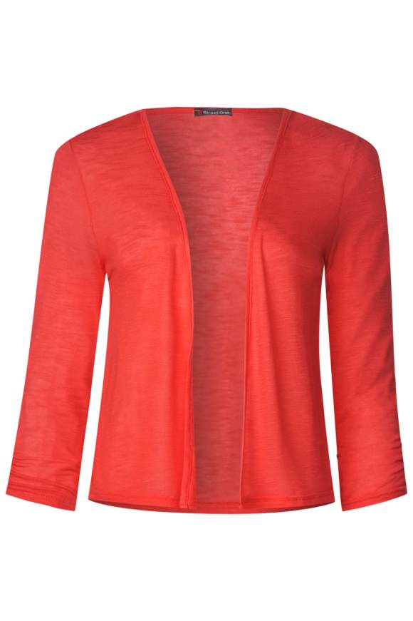 Kurze Shirtjacke Suse - bright coral | Bekleidung > Shirts > Shirtjacken | Bright coral | Denim | STREET ONE