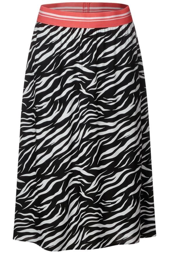 Zebra-Print Rock Lou - Black | Bekleidung > Röcke > Sonstige Röcke | Black | STREET ONE
