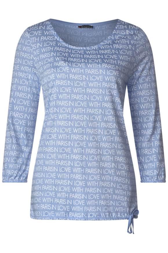 Wording-Print Shirt | Bekleidung | Blau | STREET ONE
