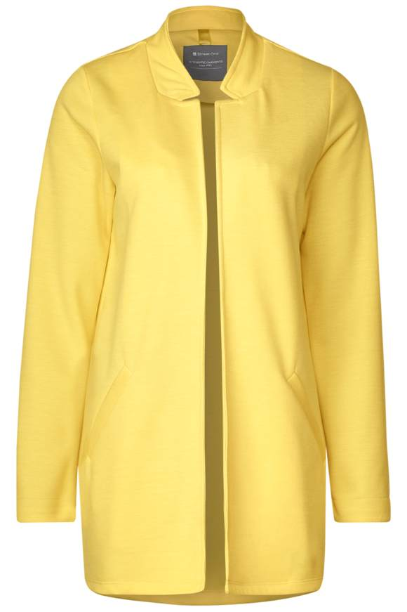 Lange Jacke im Blazer-Style - creamy lemon   Bekleidung > Blazer > Jackenblazer   Creamy lemon   STREET ONE