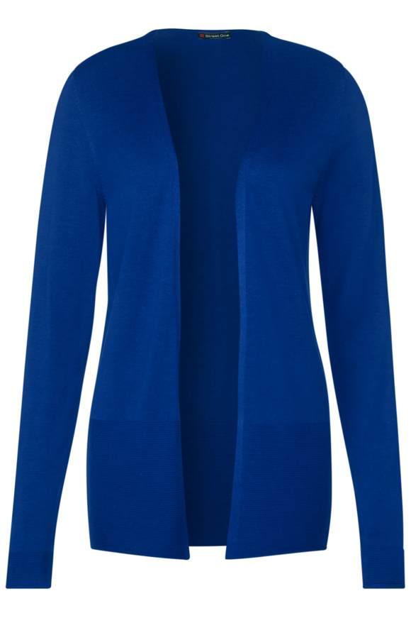 Strickjacke im Basic Style - cobalt blue | Bekleidung > Strickjacken & -mäntel | Cobalt blue | Viskose | STREET ONE