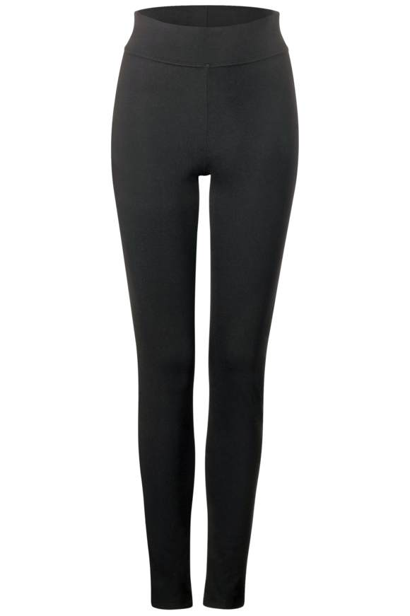 High Waist Leggings - Black | Bekleidung > Hosen > Leggings | Black | STREET ONE