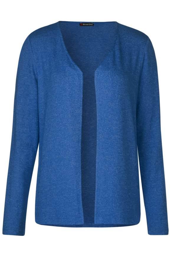 Strickjacke in Melange Jacy - cobalt blue melange | Bekleidung > Strickjacken & -mäntel > Strickjacken | Cobalt blue melange | STREET ONE