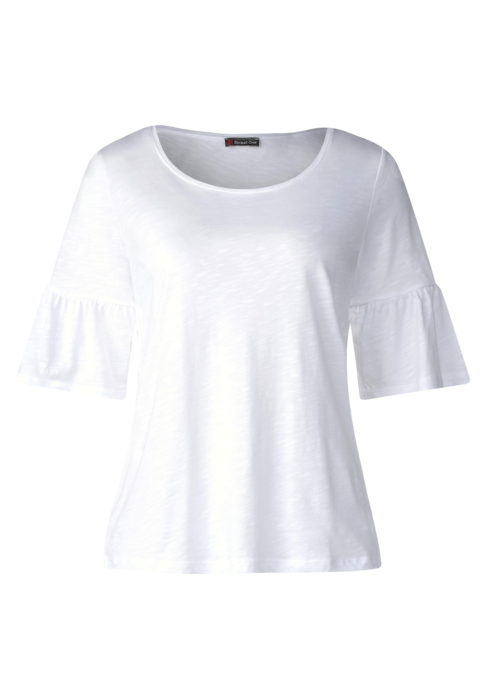 Volant Ärmel Shirt - White