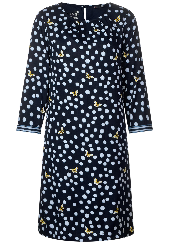 Kleid mit Frühlingsprint - deep blue