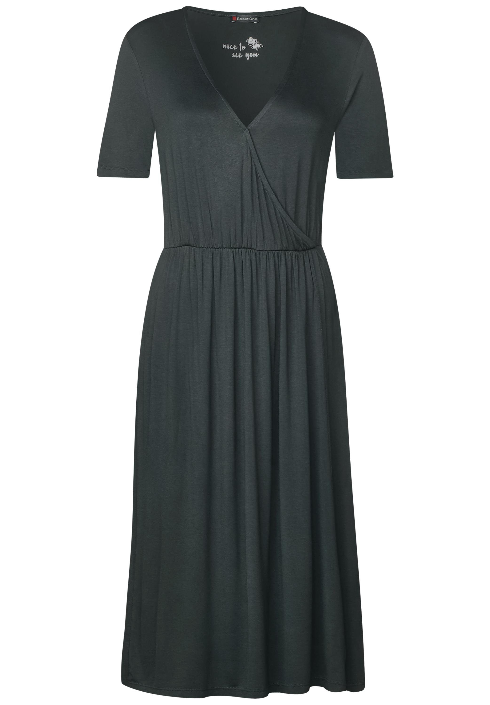 Jersey Wickelkleid - chilled green