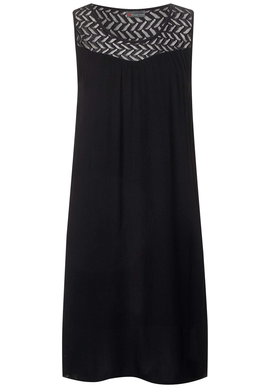 Kleid mit Spitzenausschnitt - Black