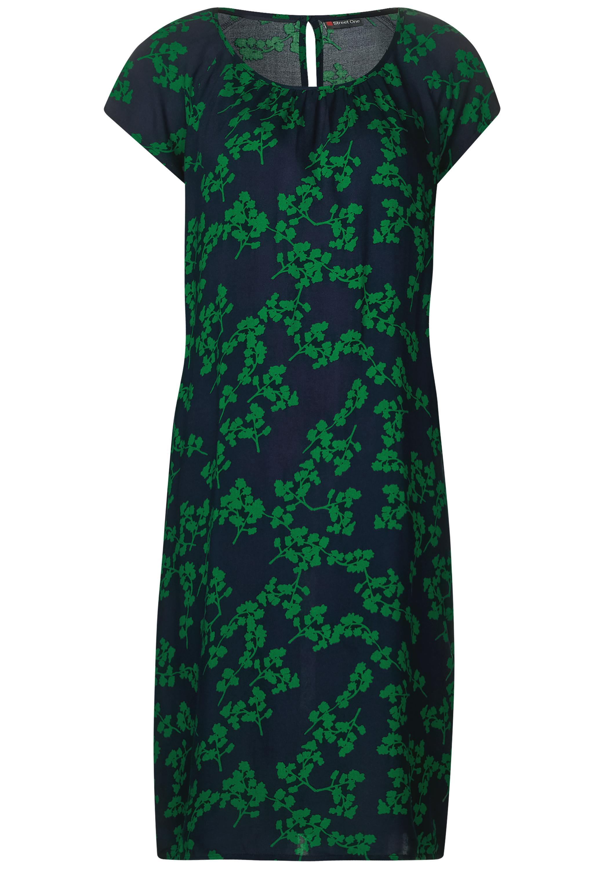 Shirt Kleid mit Blumenprint - pure green