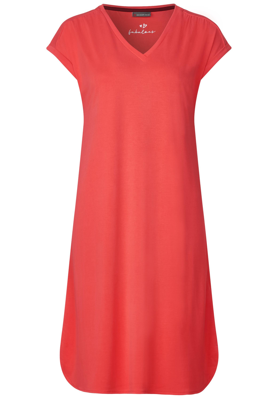 Softes Shirt Kleid - bright coral