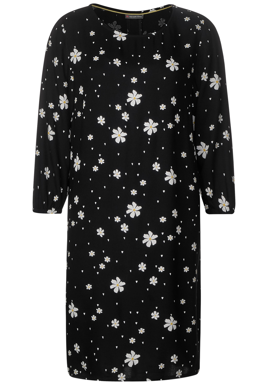 Blumiges Kleid - Black