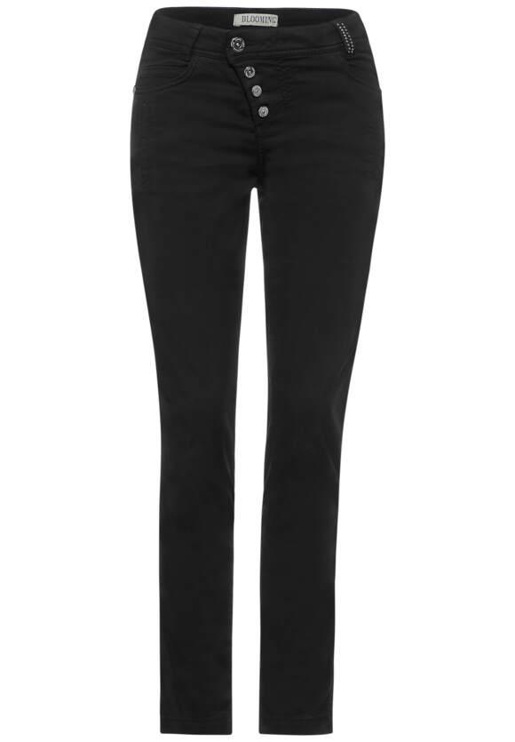 Slim fit broek in effen kleur