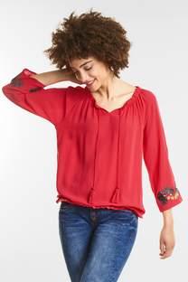 Besticktes Carmen Shirt
