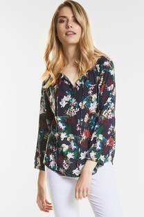 Blumenprint Tunika Bluse