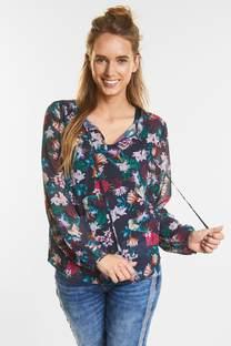 Chiffon blouse met bloemen