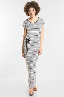 Langes Jersey Streifen-Kleid