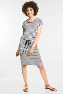 Streifen Jersey-Kleid