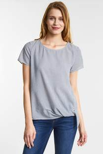 Luchtige gestreepte blouse