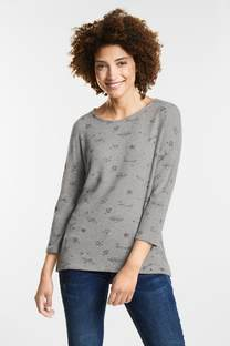 Flauschiges Print-Shirt