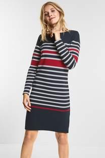 Sportliches Streifen Kleid