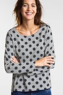 Sweat-shirt à pois féminin