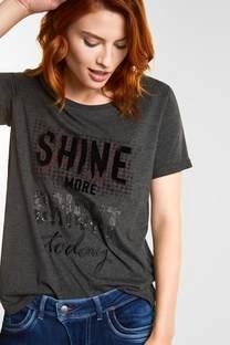 Shirt met casual woordprint
