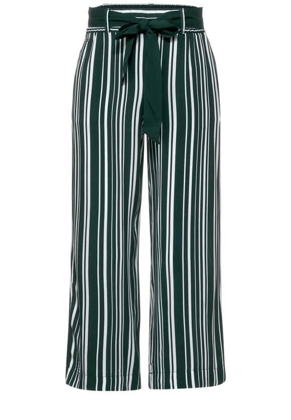 Loose fit broek met strepen